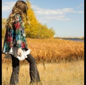 Free People Lost in Plaid Flannel Top